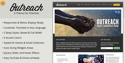 Outreach - Charity WordPress Theme - Retina Ready WordPress Theme