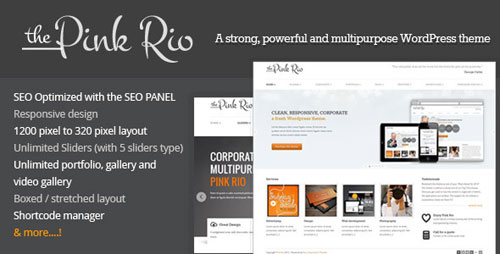 Pink Rio - Responsive Multi-Purpose Theme - Retina Ready WordPress Theme