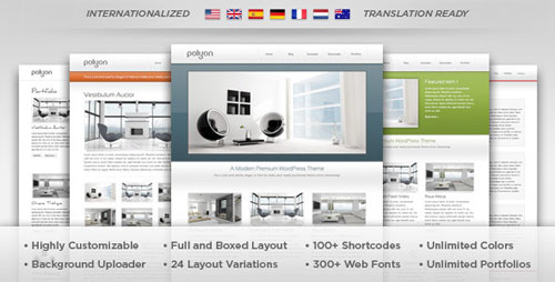 Polyon - Futuristic WordPress Theme - Retina Ready WordPress Theme