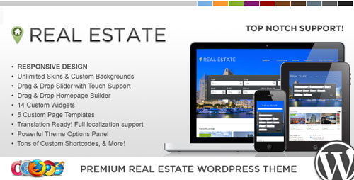 WP Pro Real Estate 4 Responsive WordPress Theme - Retina Ready WordPress Theme