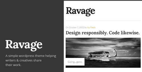 Ravage: Big & Bold WordPress Theme - Retina Ready WordPress Theme