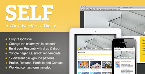 Self - A Responsive vCard WordPress Theme - Retina Ready WordPress Theme