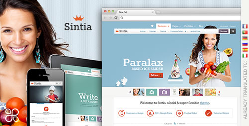Sintia Responsive for Business Portfolio - Retina Ready WordPress Theme