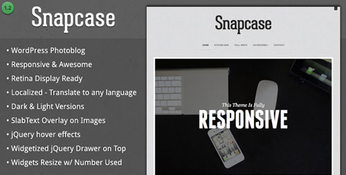 Snapcase - Responsive WordPress Photoblog Theme - Retina Ready WordPress Theme