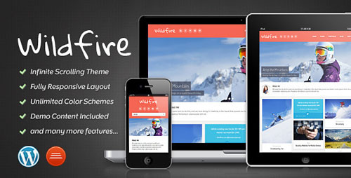 Wildfire - Responsive Portfolio Theme - Retina Ready WordPress Theme
