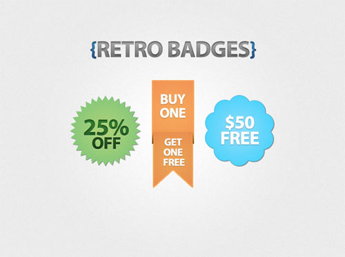Free PSD Badges for Designers
