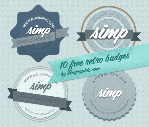 PSD Badges for Designers