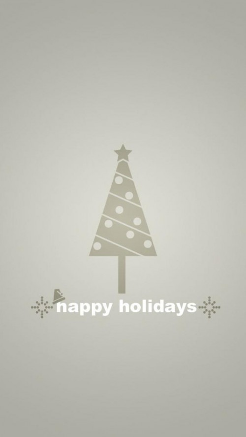 Happy Holidays Wallpapers for iPhone 5