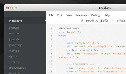 code editor application psd