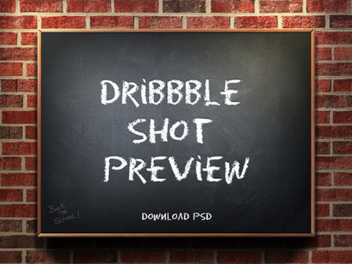 dribbble shot psd