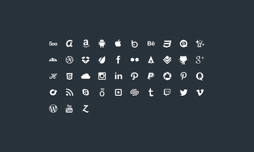 glyphs social icons psd Free PSD Files for Designers