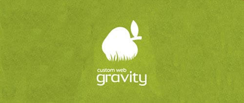 gravity apple logo 19 Apple shape Logo Designs