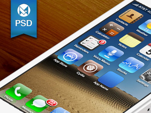 iphone5 icon export template psd