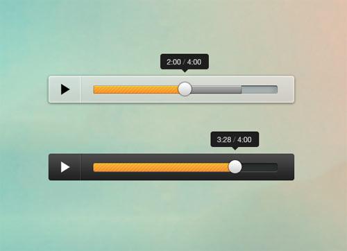 mini audio player free psd