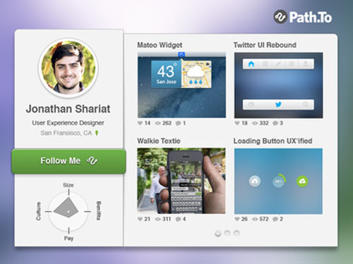 pathto profile widget psd