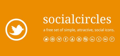 socialcircles free social icons psd