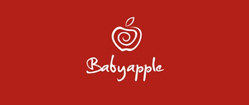twister apple logo 23 Apple shape Logo Designs