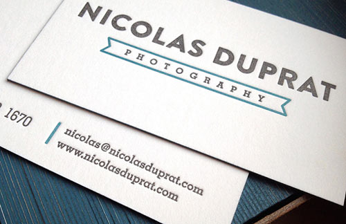 Typography Business Cards