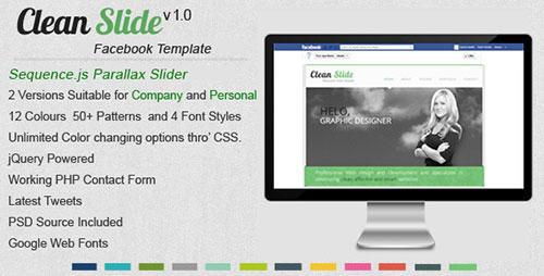Clean Slide Facebook Template