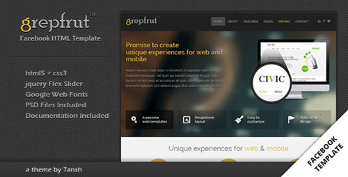 Grepfrut Business Facebook Template