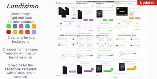 Landisimo - Landing Page with Facebook Template