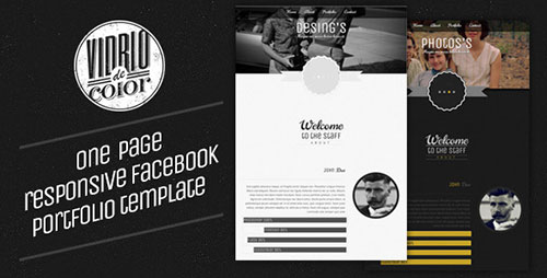 Vidro De Color - Responsive Facebook Template