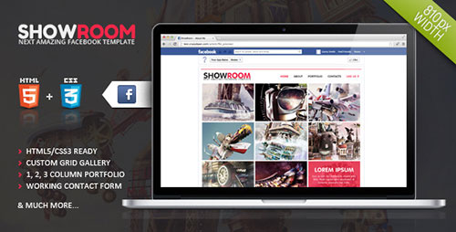 Showroom Timeline Facebook Template