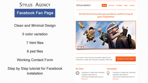 Stylus Agency Facebook Page Template