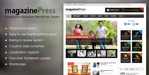 MagazinePress - WordPress Theme With Review System