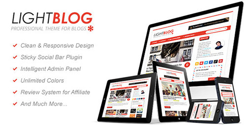 LightBlog : A Reponsive Blogging WordPress Theme