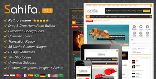 Sahifa - Responsive WordPress News,Magazine,Blog
