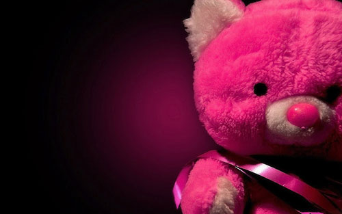 Pink Teddy Bear For Valentines Day