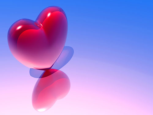 Valentines Day Wallpaper - 3D Glass Heart