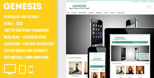 Genesis - Elegant and Responsive Zen Cart Template