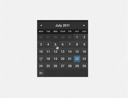 Free PSD Calendar Designs