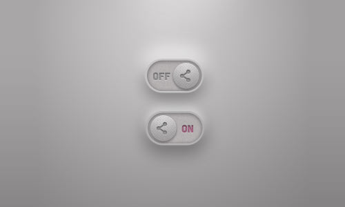 Free PSD Toggle Switches