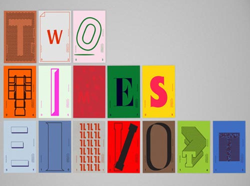 Typography Postcards