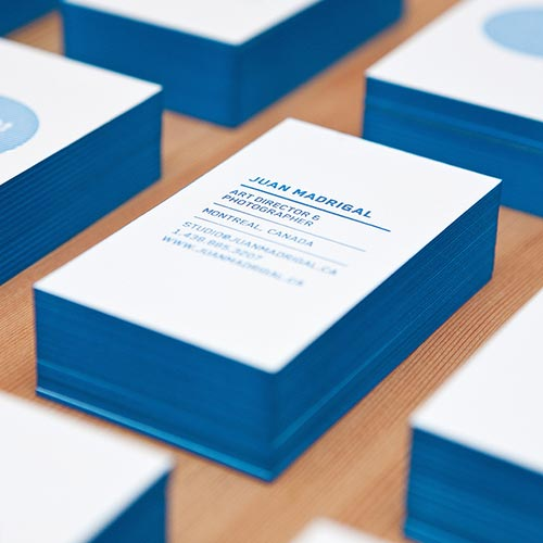 20 Thick Edge Colored Business Cards