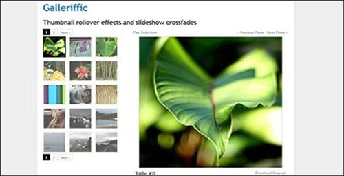 jQuery Slideshow and Image Gallery Plugins