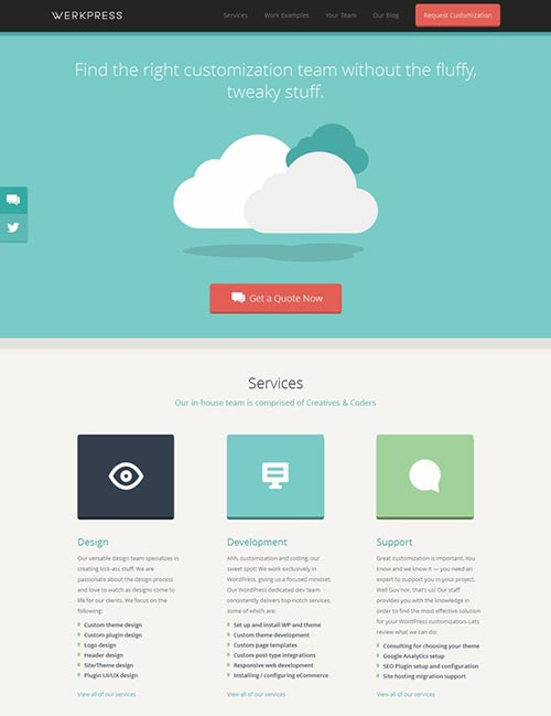 Flat Website Layouts