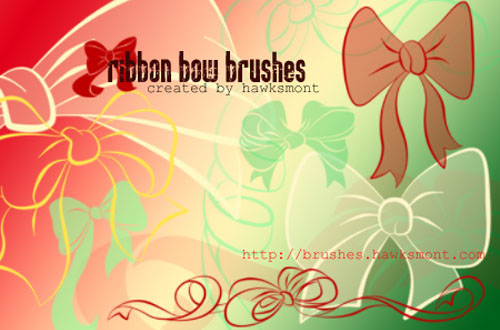30+ Free Ribbon Photoshop Brushes