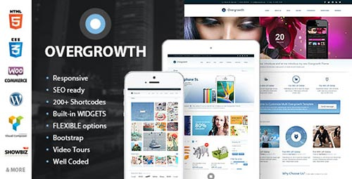 Overgrowth theme Premium WordPress Themes Released in June 2013