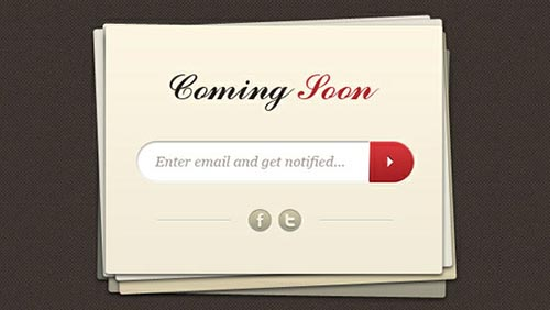 Coming Soon and Under Construction Templates