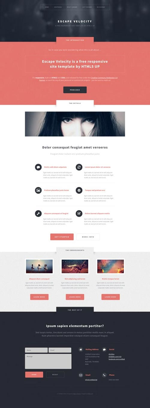 Responsive HTML5 Templates
