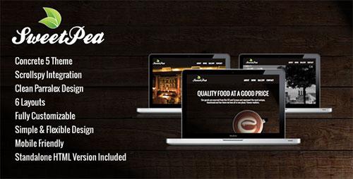 Sweet Pea - Fullscreen Concrete 5 Theme - Concrete5 CMS Themes