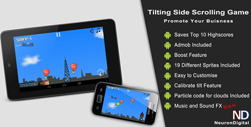 Tilting Side Scrolling Game - Promote Any Business