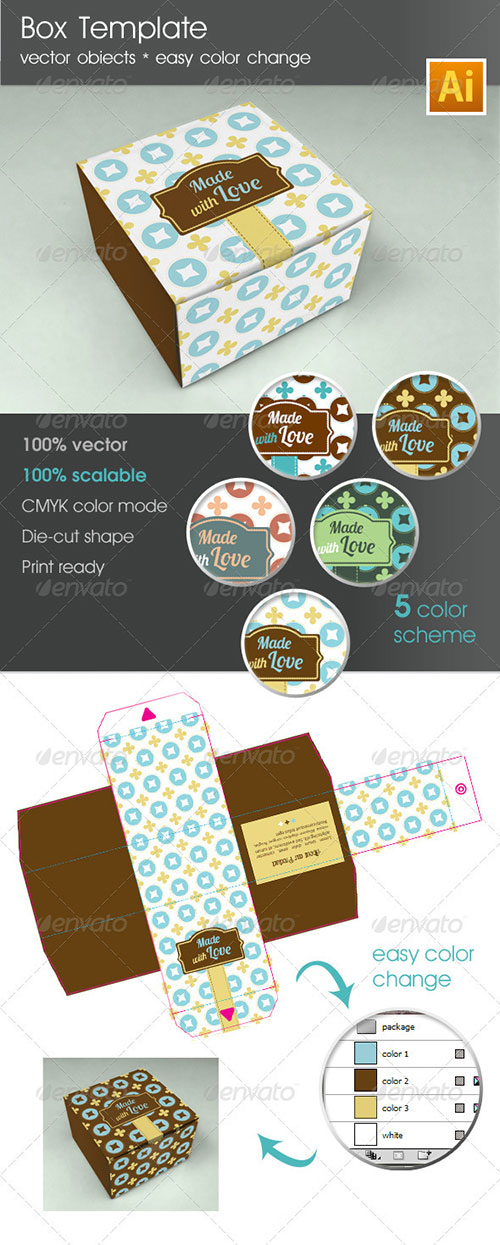 Box Template Package - Packaging Print Templates