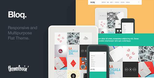 Bloq: Responsive and Multipurpose Flat Theme - Portfolio Creative
