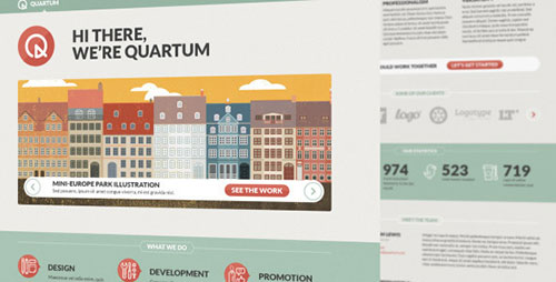 Quartum Site Template - Portfolio Creative