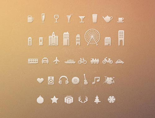 Free Monochrome Web Icon Set